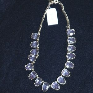 "Lavender Teardrop 17-20"" Necklace"